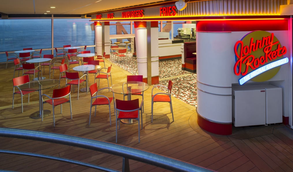 Johnny Rockets nos Navios da Royal Caribbean